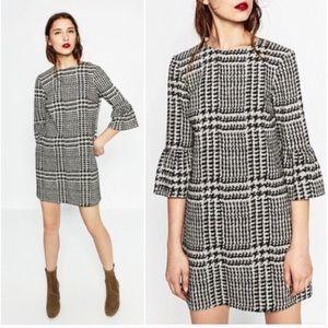 Zara Houndstooth Mini Dress